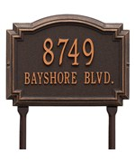 Williamsburg Lawn Address Plaque