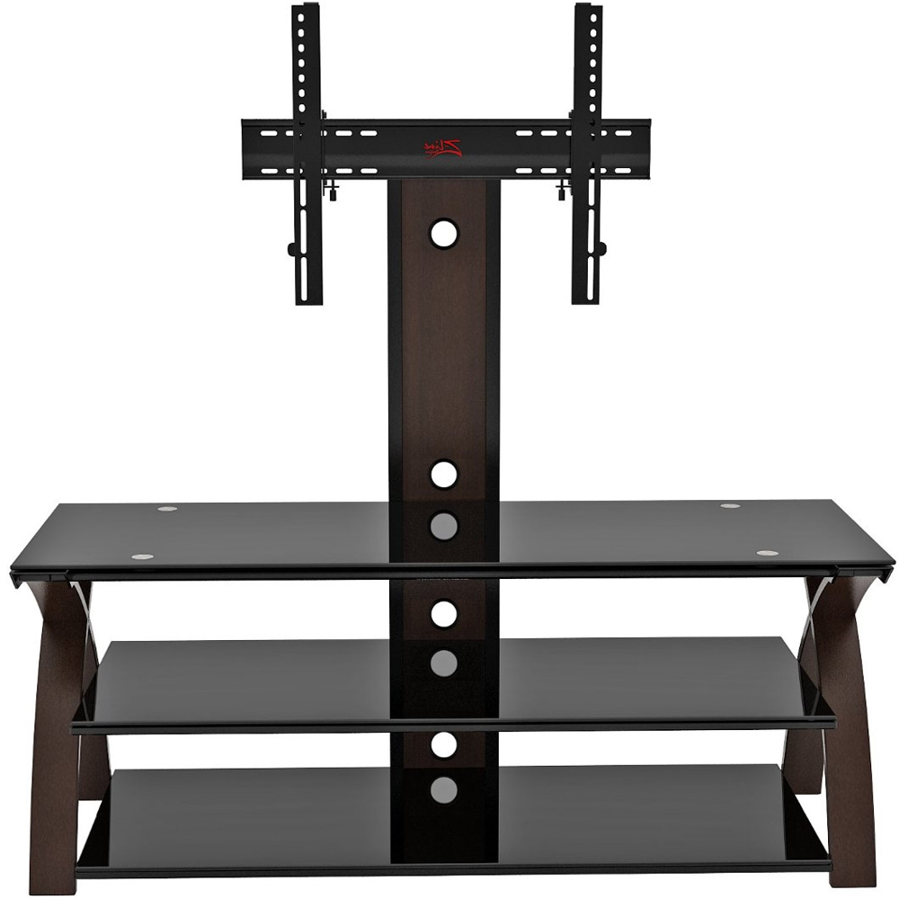 Flat panel tv stand with mount willow in tv stands for Flat screen tv console cabinet