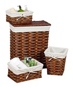 Willow Hamper and Basket Set