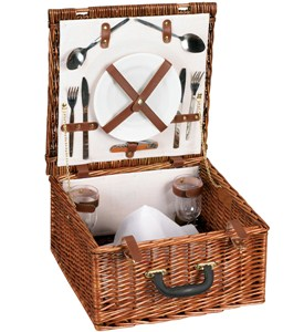 Willow Picnic Basket with Service for Two Image