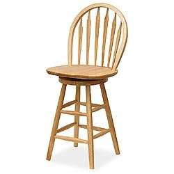 Windsor Swivel Stool - Windsor Style Back on Swiveling Barstool by Winsome Trading Image