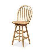 Windsor Swivel Stool - Windsor Style Back on Swiveling Barstool by Winsome Trading