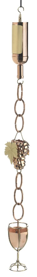 Wine Bottle Rain Chain by Good Directions