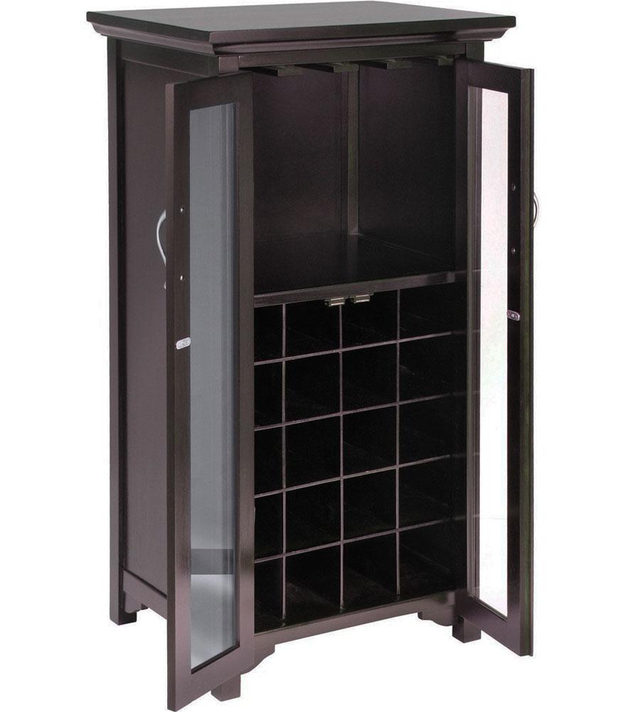 Two Door Wine Cabinet In Wine Racks