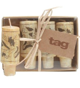 Wine Cork Candles (Set of 4) Image