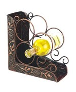 Wine Rack Bookend - Copper