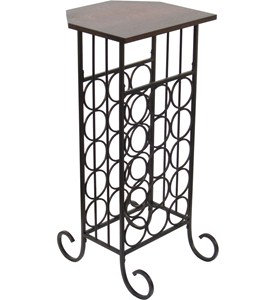 Wine Rack End Table Image
