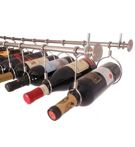 Stainless Steel Under Cabinet Wine Rack Image