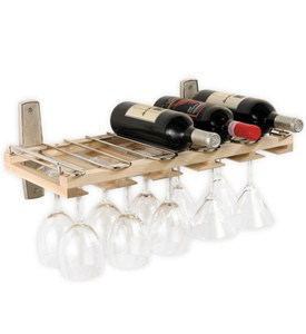 Wall Mount Stemware and Wine Bottle Rack Image