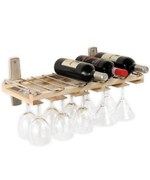 Wall Mount Stemware and Wine Bottle Rack