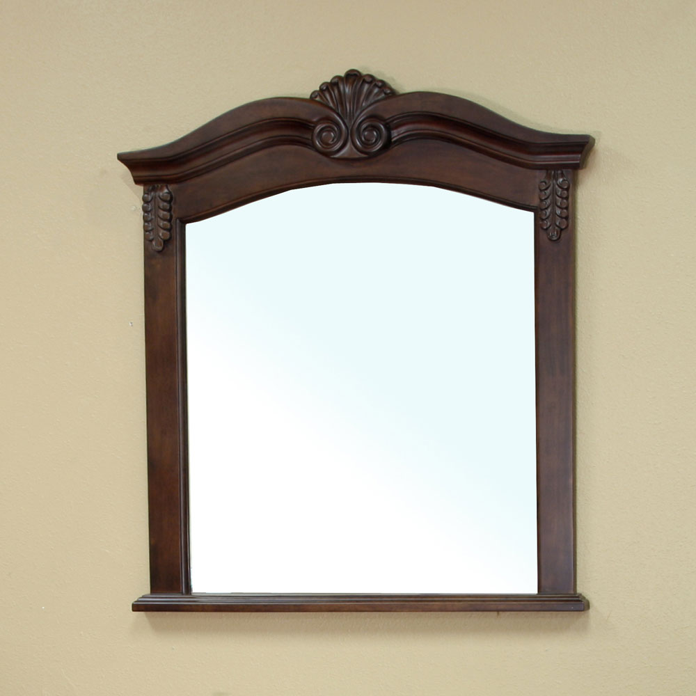 Winged Solid Wood Frame Mirror By Bellaterra Home In Framed Mirrors