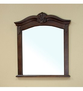 Winged Solid Wood Frame Mirror by Bellaterra Home Image