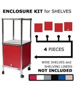 Wire Shelving Enclosure Kit 18 Inch x 18 Inch Swing Door by Chadko,LLC