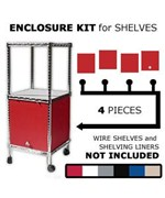 Wire Shelving Enclosure Kit 18 Inch x 24 Inch Swing Door by Chadko,LLC