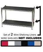 Wire Shelving Liners 18 inch x 18 inch Set of 2 by Chadko,LLC