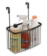 Over The Cabinet Basket Cabinet Door Organizers And Storage Baskets Organize It