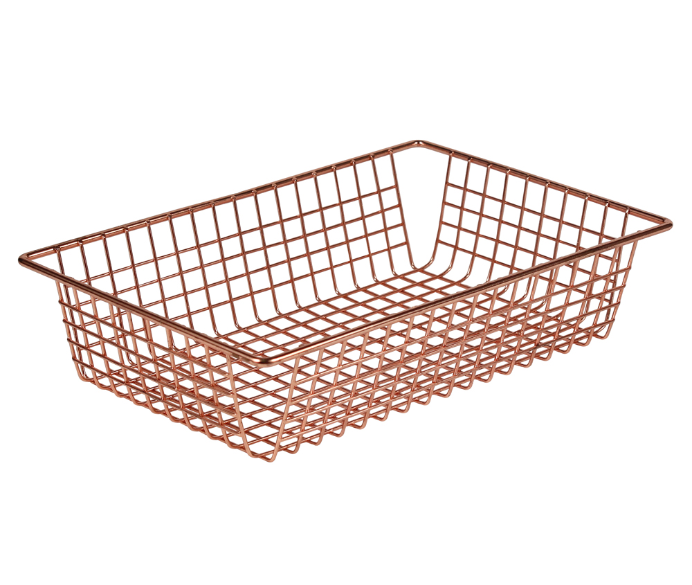 wire tray copper in wire baskets. Black Bedroom Furniture Sets. Home Design Ideas