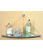Glass Corner Shelf with Cable Mounting