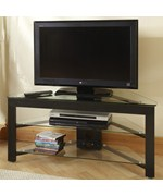 Wood and Glass TV Stand by Convenience Concepts