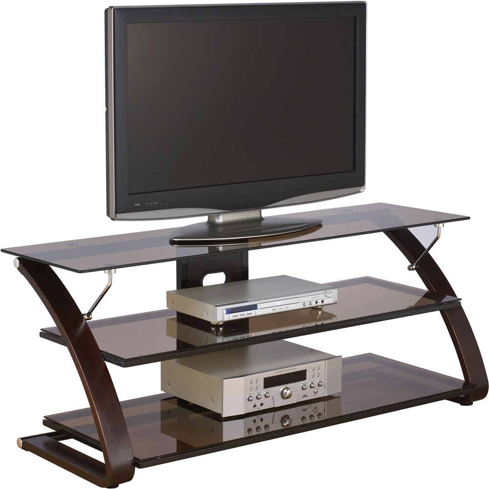 wood and glass tv stand keira in tv stands. Black Bedroom Furniture Sets. Home Design Ideas