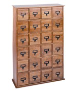 Wood Apothecary Media Cabinet