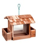 Wood Bird Feeder - Flower Planter
