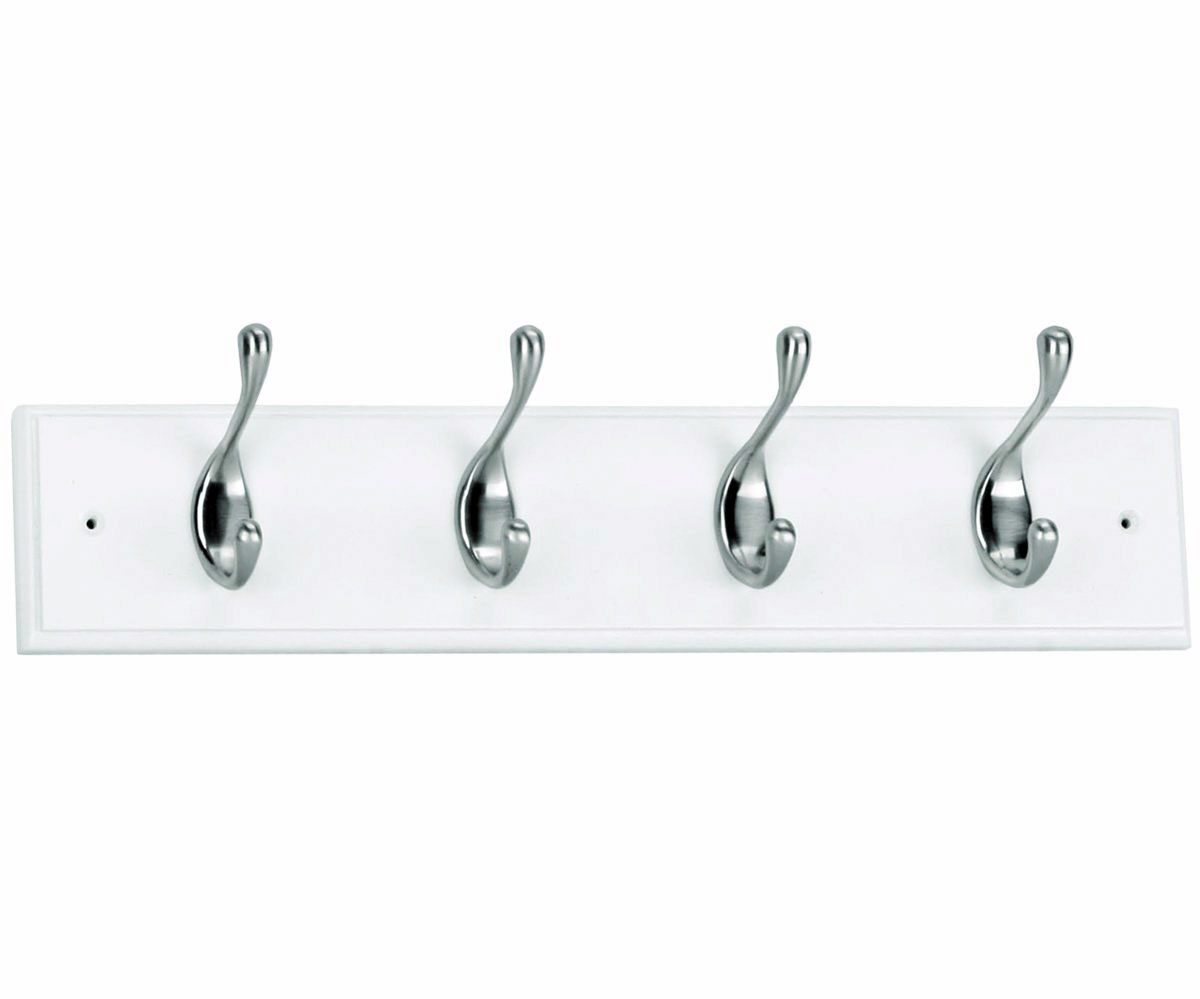 Wood hat and coat hook rack white in wall coat racks White wooden coat hooks