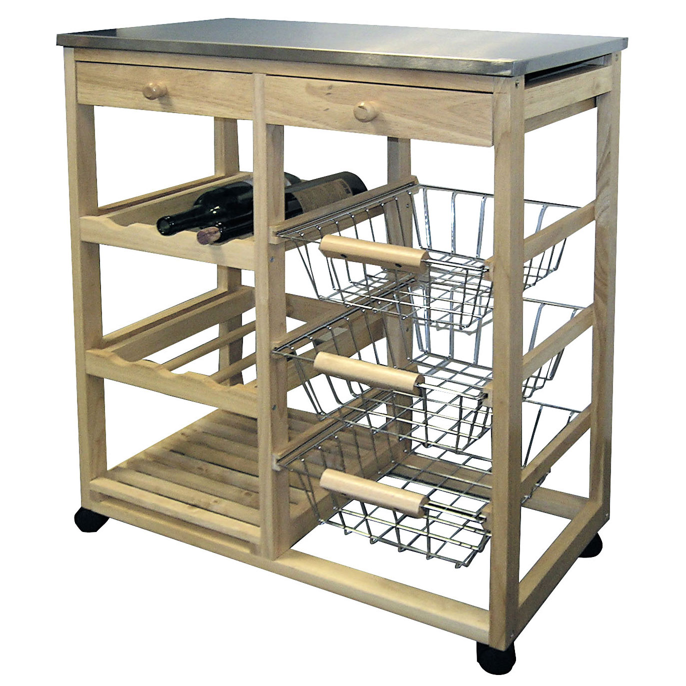 Rolling Wood Kitchen Cart   Natural Price: $218.99