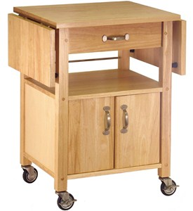 Wood Kitchen Cart With Drawer Image