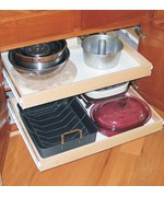 Wood Roll Out Cabinet Shelf - Wide