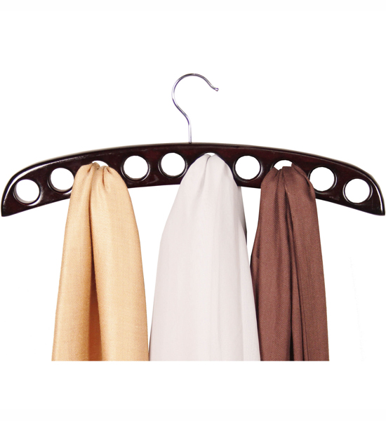 Wood Scarf Hanger Mahogany In Scarf Hangers