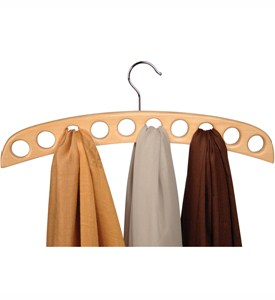 Wood Scarf Hanger - Natural Image