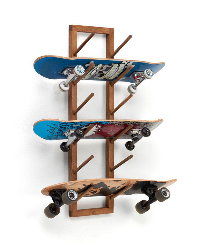 Angled Skateboard Wall Rack Image