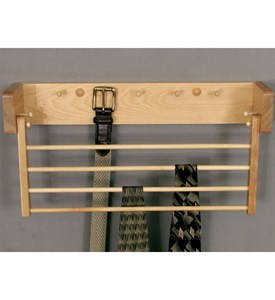 Wood Tie and Belt Rack Image