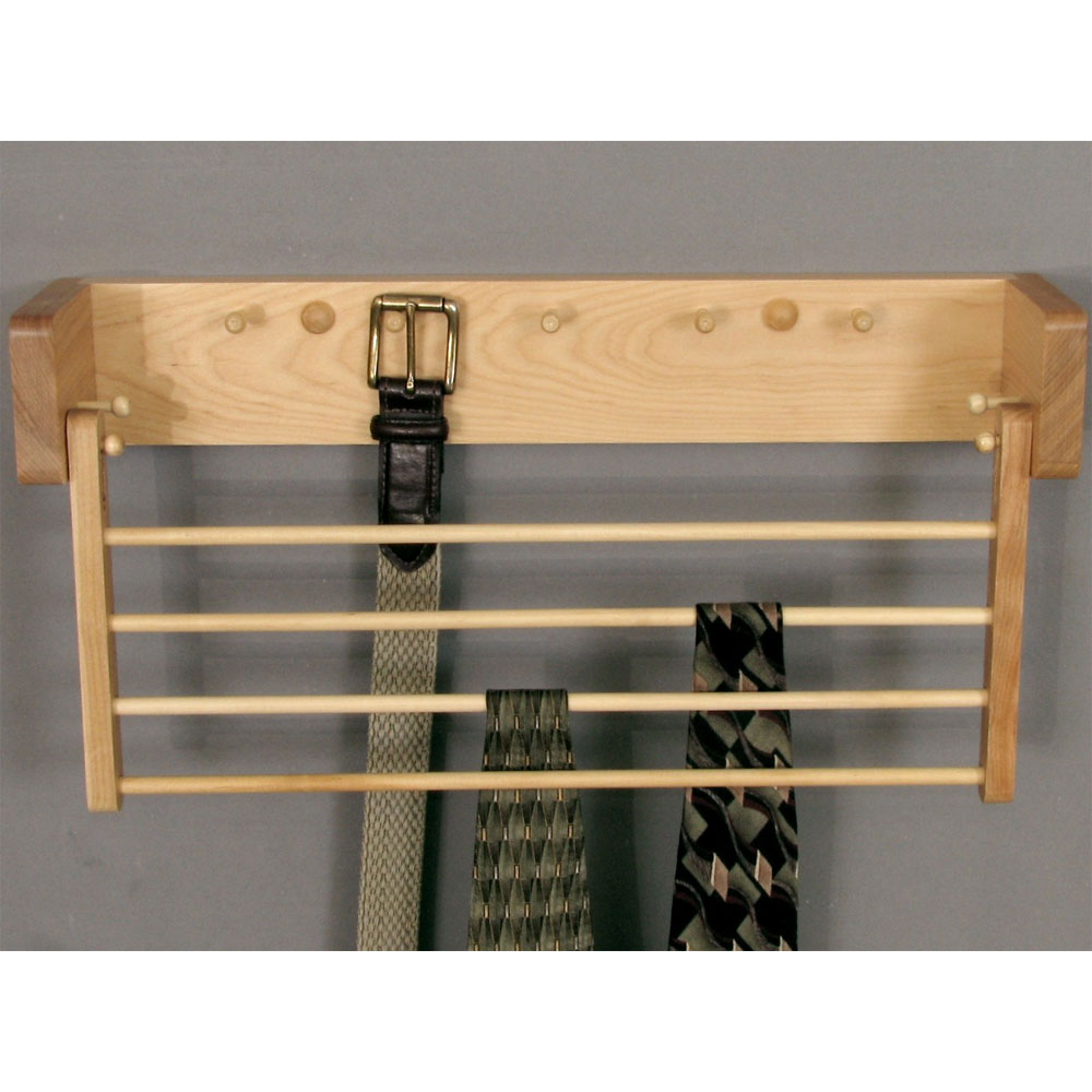 Wood Tie And Belt Rack, Closet ...