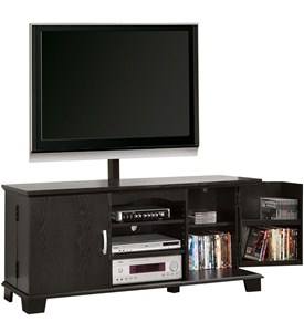 Wood TV Stand with Mount Image