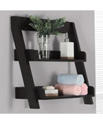 Wooden Bathroom Shelves Price   63 99. Glass Bath Shelf and Wood Bath Shelves   Organize It