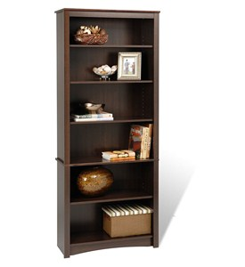 Wooden Bookcase - 77 Inch Image