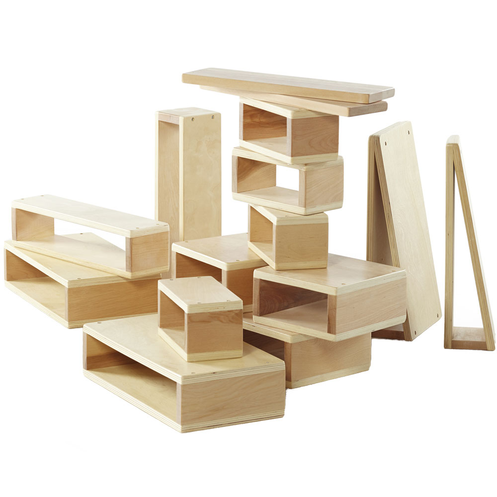 Big Wood Blocks ~ Large building blocks set of in educational toys