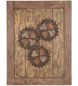 Wooden Cog Wall Decor by Passport Image