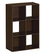 Wooden Cubby Storage Unit - Six Compartments