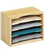 Desktop File Sorter Wooden Organizer