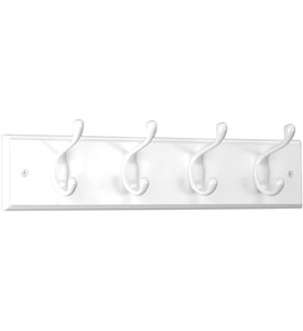 Wooden Hat and Coat Rack - White Image
