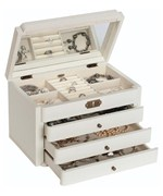 Wooden Jewelry Box - Ivory