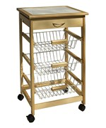 Wooden Kitchen Cart with Baskets by Neu Home