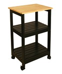 Wooden Kitchen Cart with Shelves
