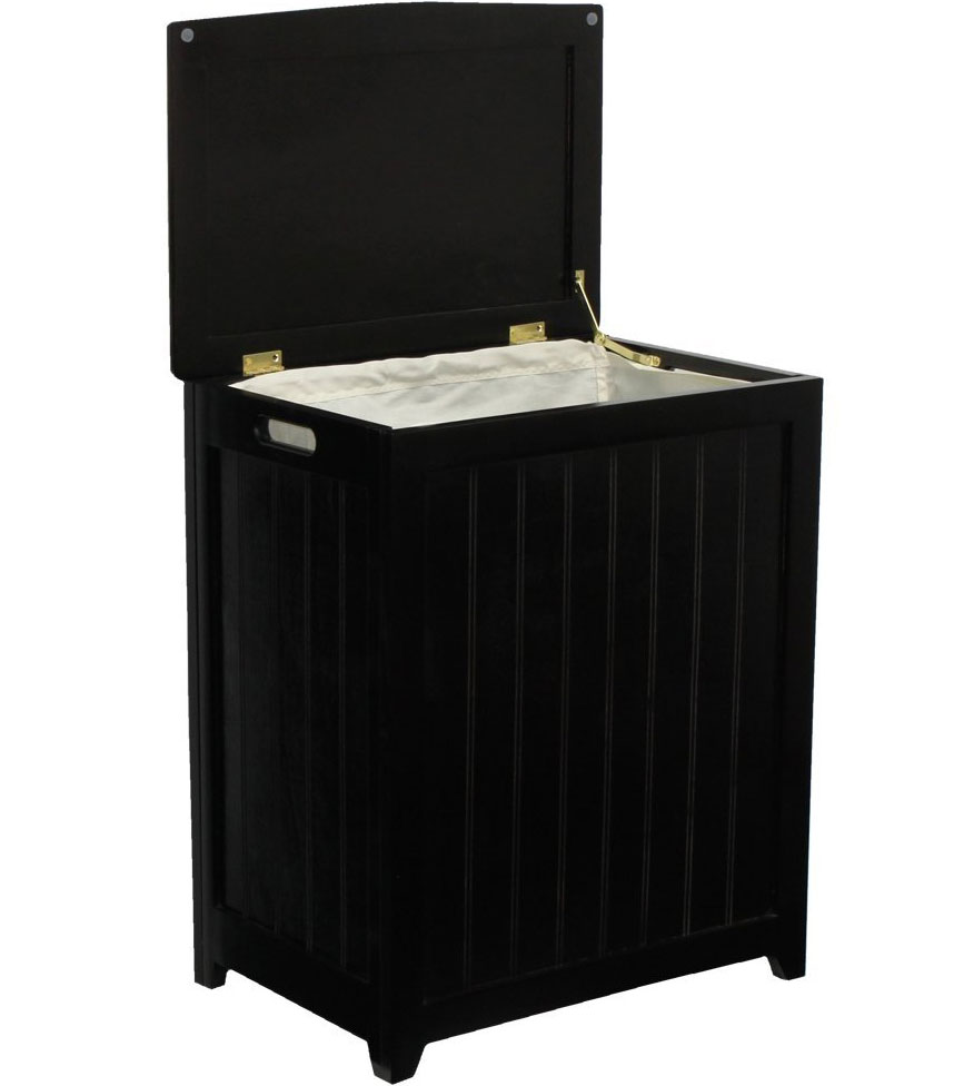 Wooden Laundry Hamper In Clothes Hampers