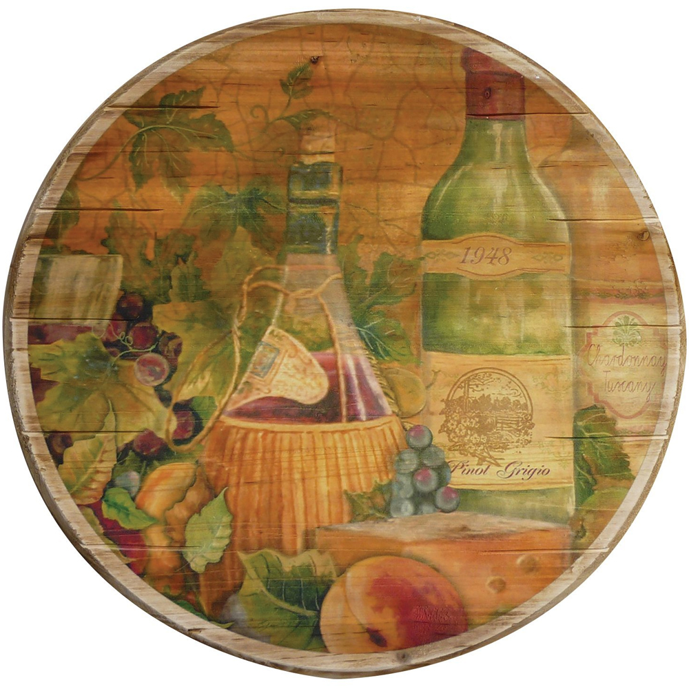 Wooden lazy susan tuscan wine in lazy susan turntables for Wine and paint boston