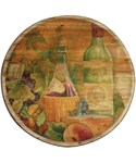 Wooden Lazy Susan - Tuscan Wine