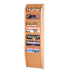 Wooden Magazine Rack - 7 Pocket Image
